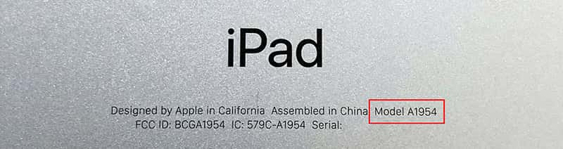 iPad Modell Backcover