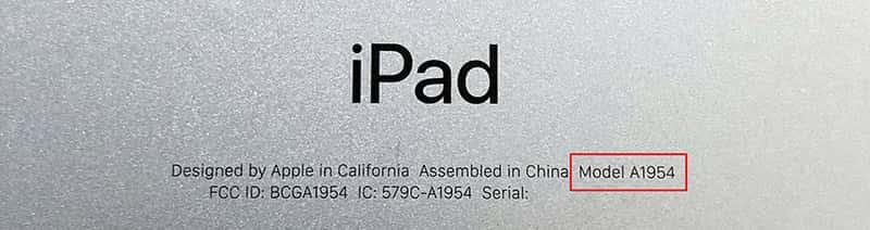 iPad Modell Backcover
